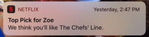 Netflix push notification example