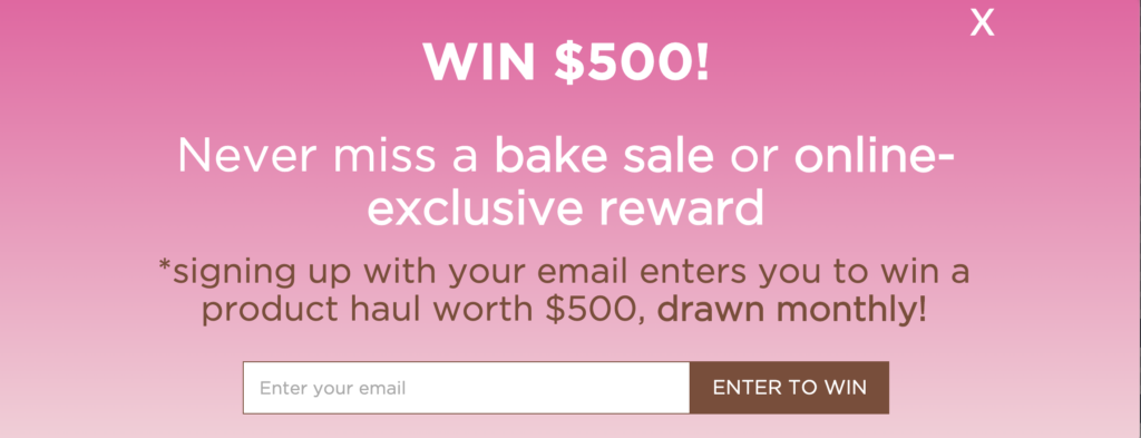 Beauty Bakerie Cyber Week email example