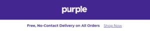 Purple holiday promo