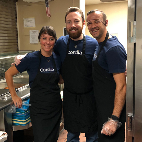 Cordial Cares food bank volunteer event