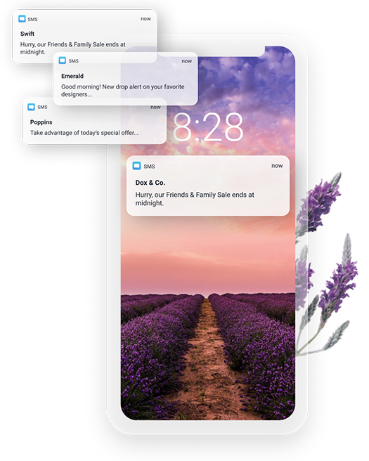 Example of SMS campaigns that can be sent using Cordial