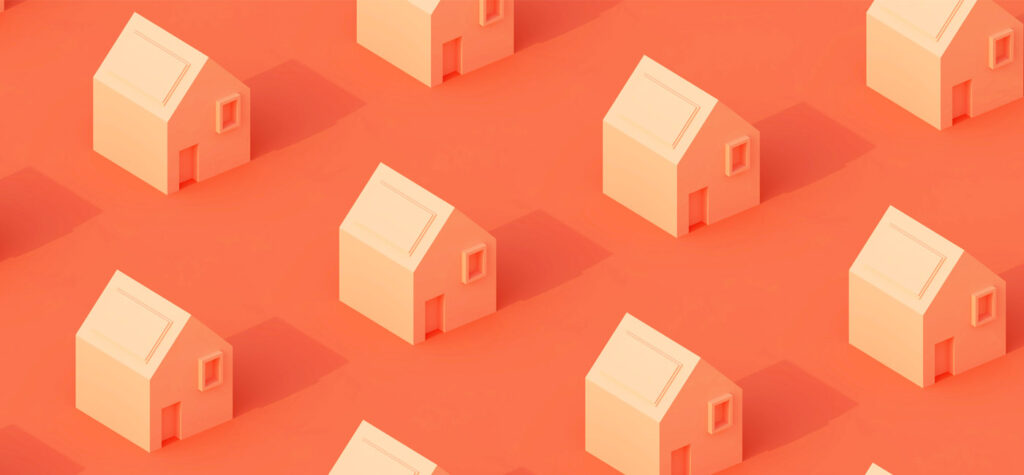 Pattern of houses