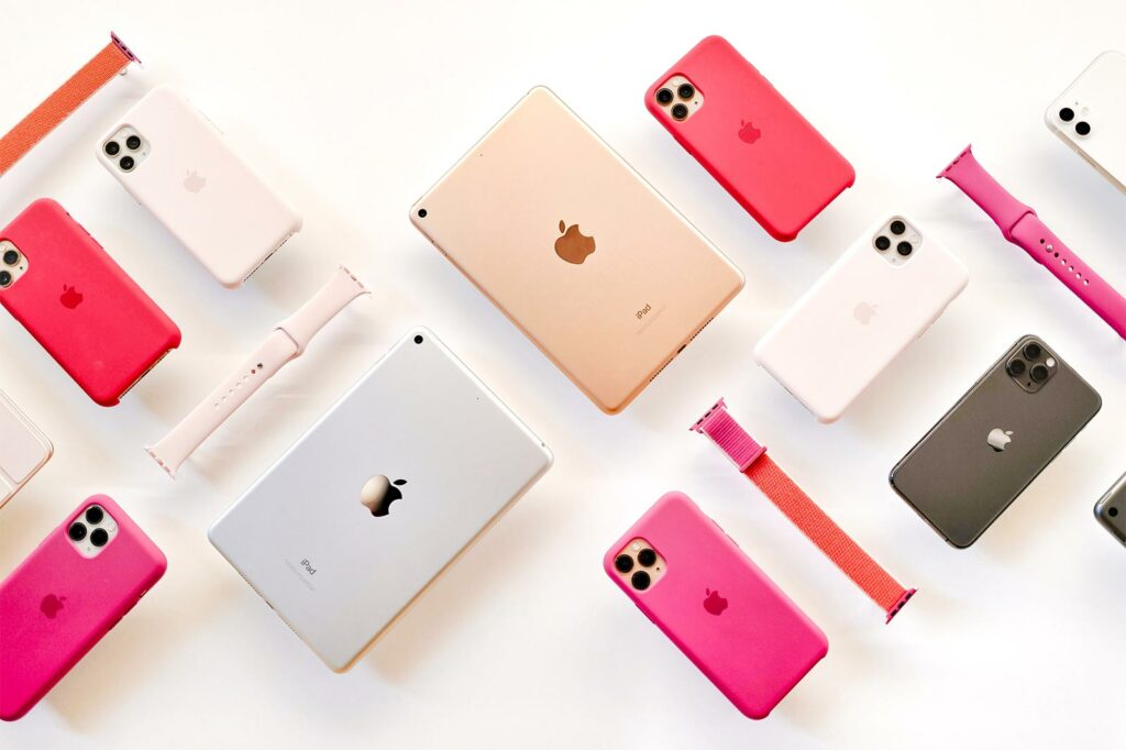 Pattern of iphone devices